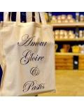 Tote Bag Amour Gloire et Pastis 100% coton bio