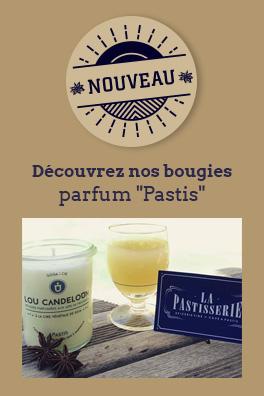 """Découvrez nos bougies parfum """"Pastis"""""""